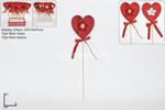 cuore spillone 31cm c/fiore mv000405