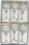 l.b/oro tulip 6 calici vino c1033/0001$$