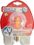 filament lampada goccia e27 8w calda
