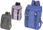 l.travel zaino nylon 2 fibie 34x19x43cm