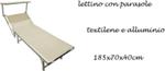 lettino c/paras text bianco 185x70x40cm