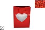 busta regalo vetrinetta cuore 33x25x10cm